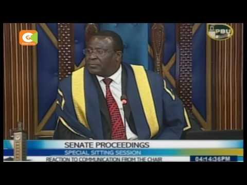 Senate Speaker Ekwe Ethuro pushes Election Laws debate to January 4
