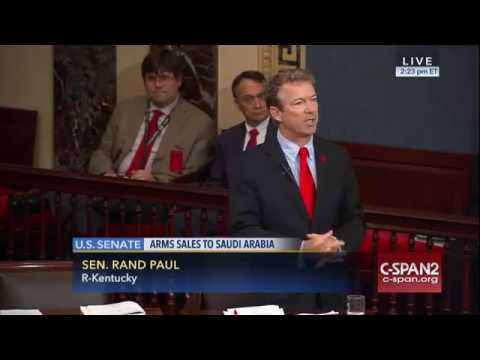 Sen Rand Paul and Murphy Debate Critics of Saudi Arabia Arms Sale Resolution