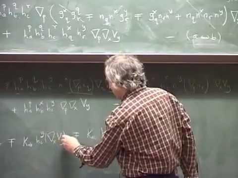 15 - Gauss equations, Codazzi equations