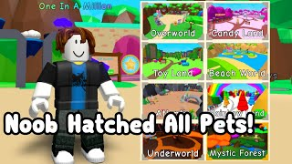 Noob Hatched All Pets In Bubble Gum Simulator! All Index Reward! Roblox