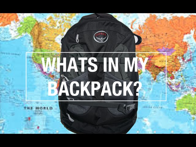 Backpacking Across Europe Whats In My Backpack Youtube