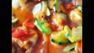 пельмени в овощном соусе
