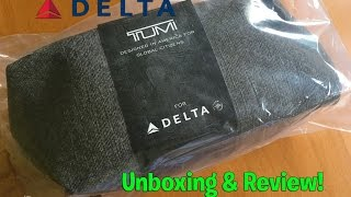 Delta Airlines Tumi Amenity Kit (Early 2016 Edition-Grey) Unboxing & Review!