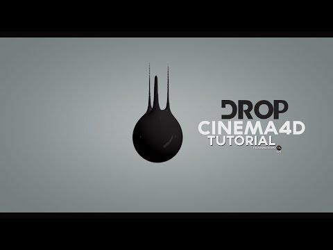 CINEMA4D TUTORIAL -  LIQUID DROP MOTION animation