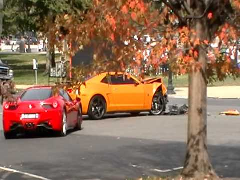 Transformers 3 Bumblebee car crash  YouTube