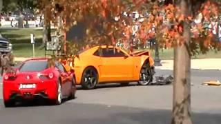 Transformers 3 Bumblebee car crash