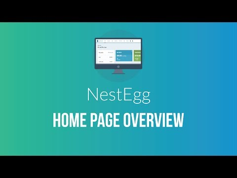 Personal finance and budgeting app NestEgg homepage review..