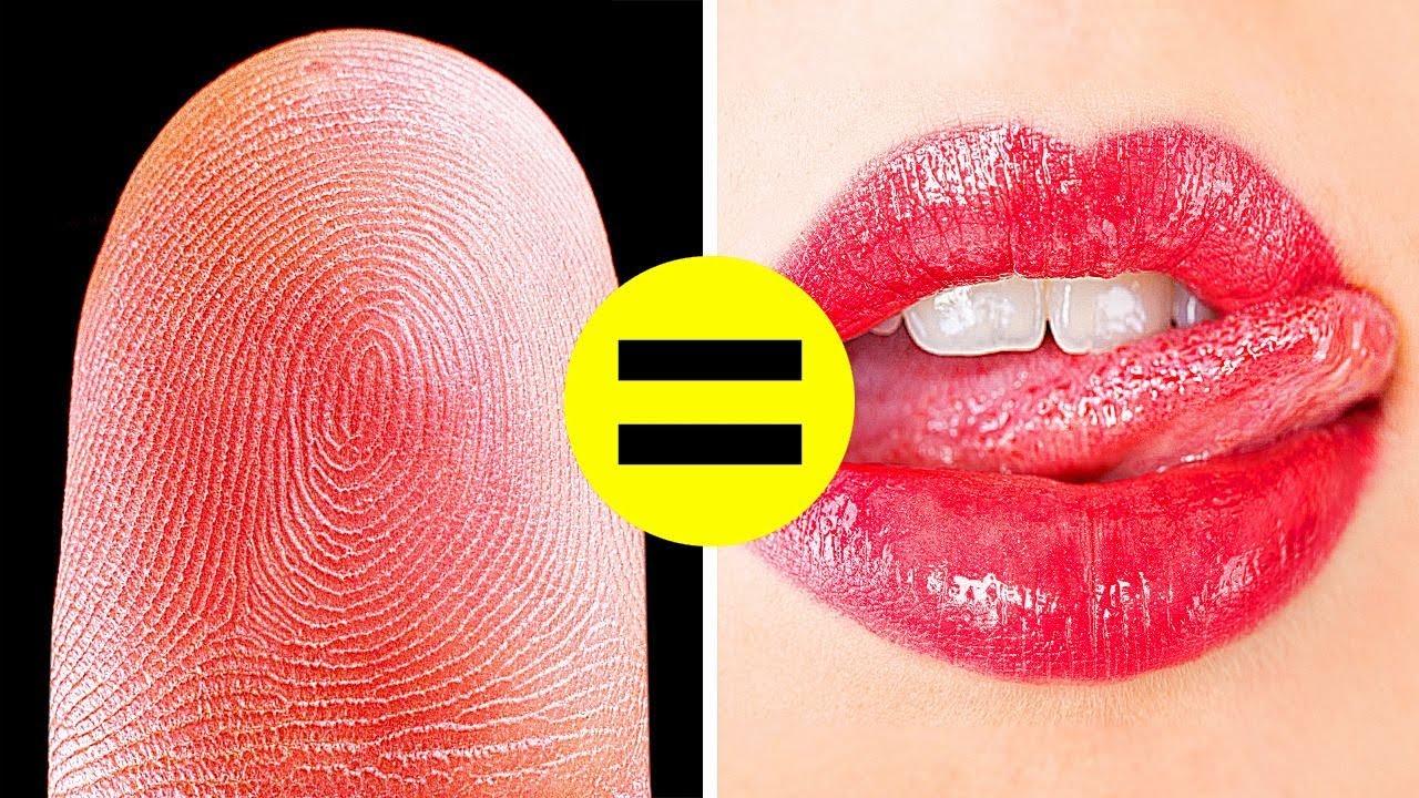 혀가 여러분의 정체를 드러낼 수 있어요! 우리 몸의 멋진 사실 50가지 이상 모음