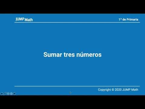1º. Unitat 3. Sumar tres números