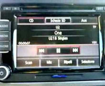 vw tiguan radio cd rcd 510 mp3 touch screen youtube. Black Bedroom Furniture Sets. Home Design Ideas