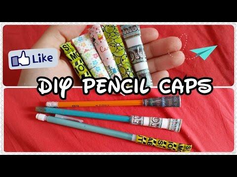 Back to school supplies: Paper Pencil Caps DIY!