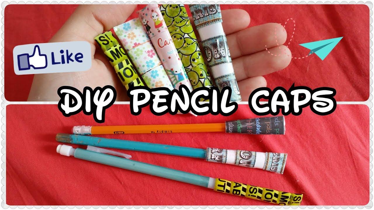 Decorate Pencil Case Back To School Supplies Paper Pencil Caps Diy Youtube