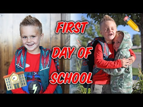 FIRST DAY OF SCHOOL! Jackson Goes To Kindergarten! 😢 (Emotional)
