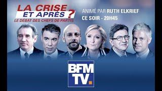 Revoir notre grande soirée spéciale #LaCriseEtApres animée par Ruth Elkrief sur BFMTV