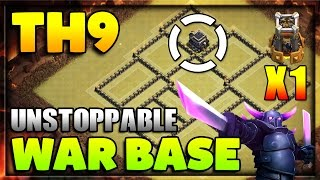 (NEW) Clash Of Clans Town Hall 9 War Base - Anti 3 - Star's With Bomb Tower (2016)