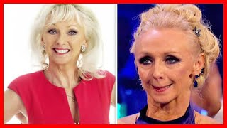 Debbie McGee suffers awkward technical problem in live Trump and Macron chat