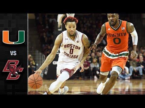 Miami vs. Boston College Basketball Highlights (2017-18)