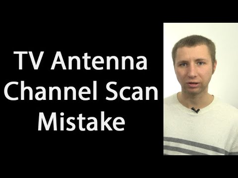 Running A Channel Scan With A TV Antenna? Avoid This Common Mistake