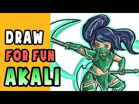How to draw AKALI! Draw for fun Ep 3