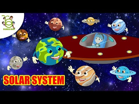 Learn Planets Of Solar System - Stars, Moons, Red Planet For Kids - Learning Videos For Toddlers.