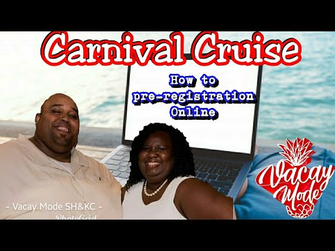Carnival Cruise  | How To Pre Register Your Cruise Trip Online Step By Step??