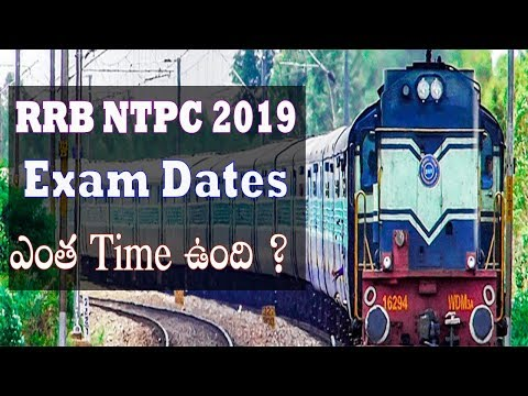 RRB NTPC Exam Dates Check Application Status Download Admit Card 2019 Paramedical Cbt Exam in telugu