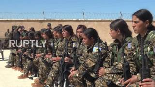 Syria  Thirty female fighters pass training to join Manbij Military Council