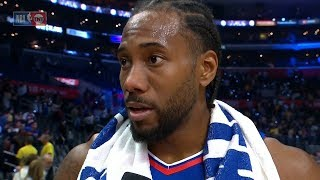 Kawhi Leonard Postgame Interview - Lakers vs Clippers | October 22, 2019 | 2019-20 NBA Season