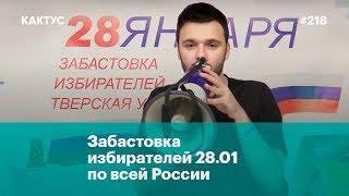 Забастовка избирателей 28.01 по всей России