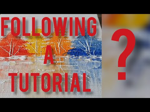 I Followed A Suraj Fine Arts Easy Abstract Landscape Painting Tutorial || Easy || Witch Painter