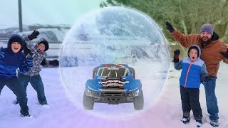 RC Car Adventure In A Giant Ball
