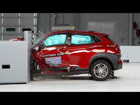 2018 Hyundai Kona Driver-side Small Overlap IIHS Crash Test