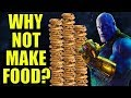 Why doesn't Thanos create infinite resources?