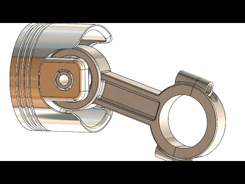 SolidWorks Tutorial #202: Piston  (ver. 2)