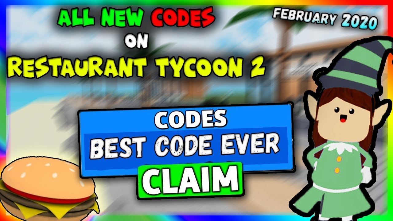 All New Codes In Restaurant Tycoon 2 2020 Roblox Youtube