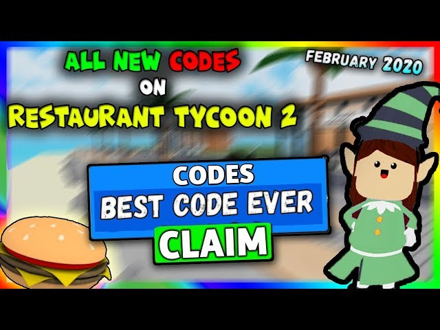Codes For Restaurant Tycoon 2 Roblox Codes Restaurant Tycoon 2