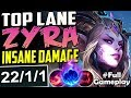 TOP LANE ZYRA IS ACTUALLY WAY TOO STRONG | New Runes ZYRA vs Yasuo TOP BUILD | PBE SEASON 8 Gameplay