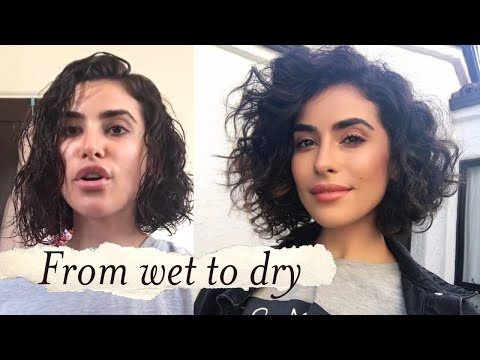 How to Style Short Curly Hair Tutorial