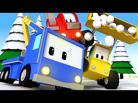 The North Pole - Tiny Trucks for Kids with Street Vehicles Bulldozer, Excavator & Crane
