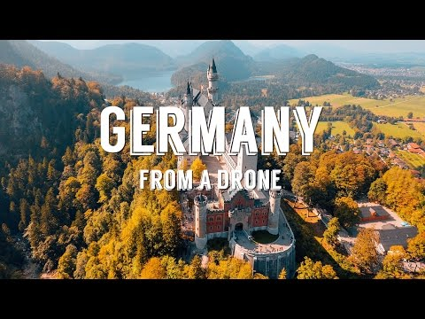 Stunning aerial drone footage over GERMANY + AUSTRIA - 4k