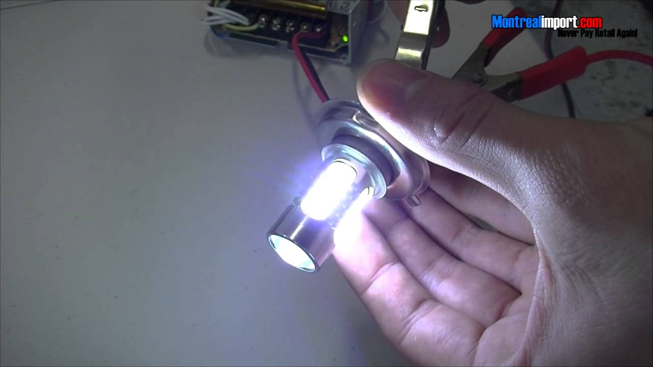H4 Wit Licht : H4 7 5w 5 led cool white light led for car 12 24v youtube