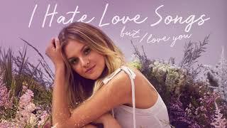 kelsea ballerini i hate love songs official audio