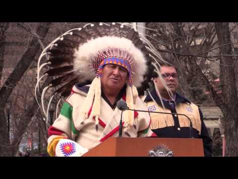 [RAW COVERAGE] City of Calgary raises Treaty 7 flag at City Hall