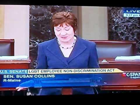 Susan Collins (R-ME) Urges Senate Support LGBT Employee Non Discrimination Act (ENDA)