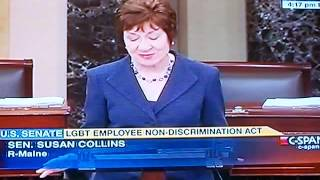 Susan Collins (R-ME) Urges Senate Support LGBT Employee Non Discrimination Act (ENDA)