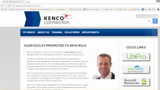 Navigating to kenco's ultipro resources page specifically for employees, managers and administrators.