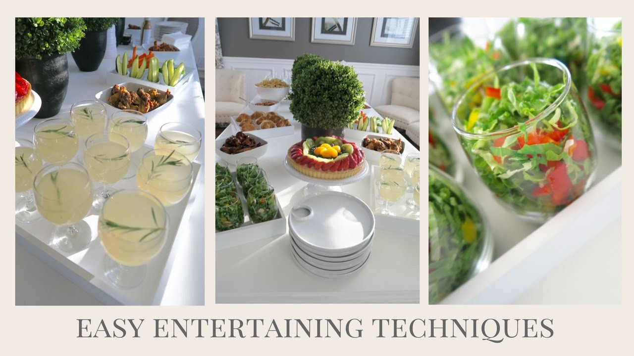 Entertaining At Home Easy Techniques  Simple Tips & Tricks For Entertaining At Home