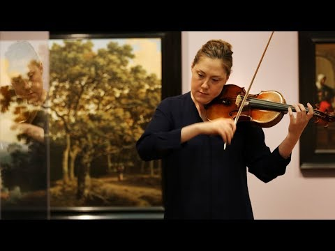 Practicing on a 276-year-old Italian violin