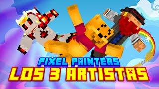 LOS 3 ARTISTAS! Minecraft Pixel Painters - Macundra, Tonacho y Luh