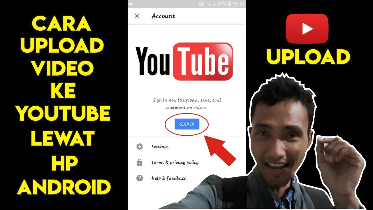Cara Upload Video Ke Youtube Lewat Hp Android Youtube